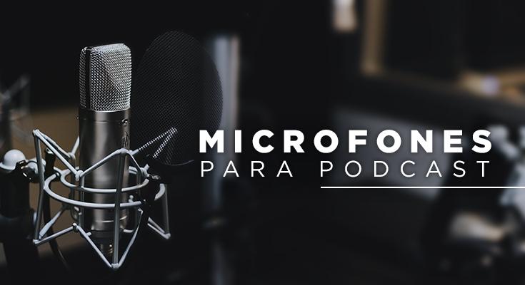 Microfone para podcast