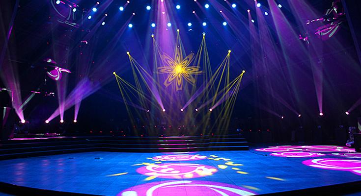 Gobos na iluminação de palco