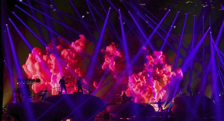 iluminação de palco com mapeamento de pixels